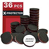 Floor Protector Pads X-PROTECTOR – Non Slip Pads - Premium 36 pcs 25mm Furniture Pads! Best Rubber Pads - Rubber Feet for Furniture Feet - Furniture Floor Protectors for Keep in Place Furniture!