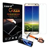 Galaxy S7 Edge Screen Protector, Kissral® Samsung Galaxy S7 Edge Curved Edge Screen Protector [Full Screen Coverage], Ultra Slim HD Clear Protector Tempered Glass Screen for S7 Edge(Transparent)