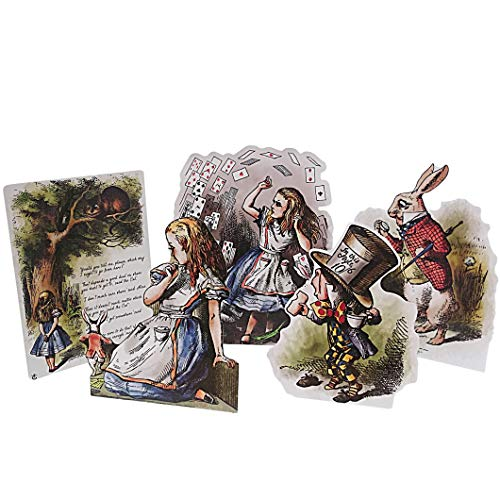 ASVP Shop Alice in Wonderland Card Stand Up Props Party Supplies Table Decor Decoration