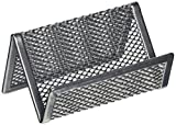 Design Ideas Business Card Holder, Mesh, Silver
