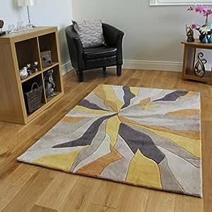 Alfombra para sal n dise o abstracto violeta beis y oro - Alfombras dormitorio amazon ...