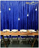 ShinyBeauty Sequin Backdrop-Royal Blue-8FTx8FT,Sparkly Glamour Photo Booth Backdrop Backdrop Shimmer Fabric Drape Curtain Wedding/New Year/Christmas/Party (Royal Blue)