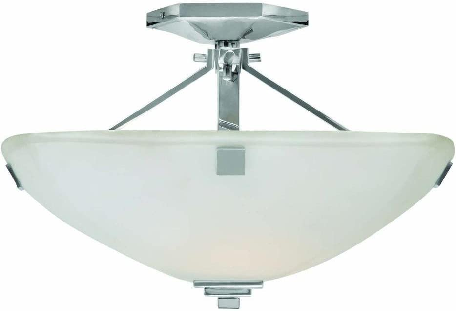 Home Decorators Collection Sydney 2-light Polished Nickel Semi-flush Mount
