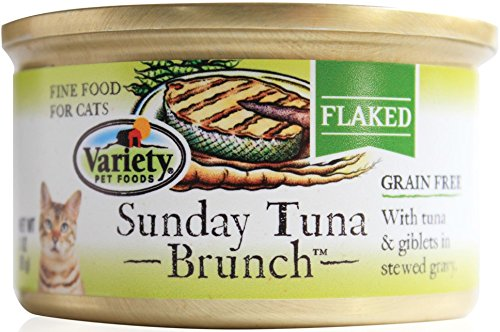 Homestyle Recipes, Sunday Tuna Brunch, 24/3-Ounce Cans,  Flaked, Grain Free Cat - Foods Pet Variety