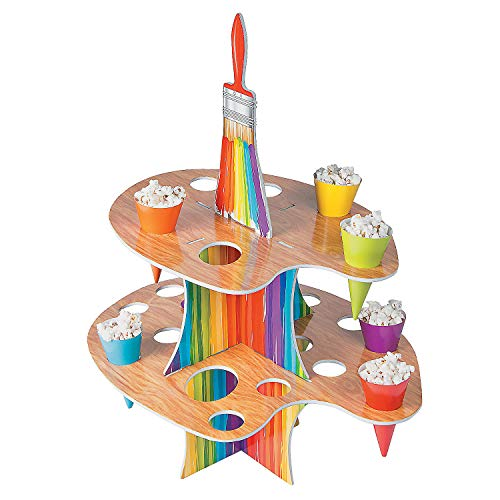 Fun Express - Artist Party Tray W/cones for Birthday - Party Supplies - Serveware & Barware - Misc Serveware & Barware - Birthday - 25 Pieces ()