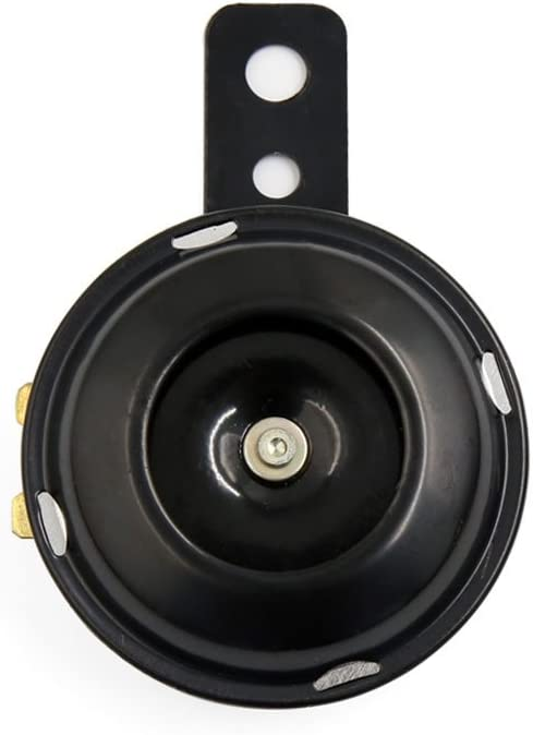 uxcell 6V 1.5A 110dB Metal Electric Loud Horn Speaker Trumpet Black for Motorcycle