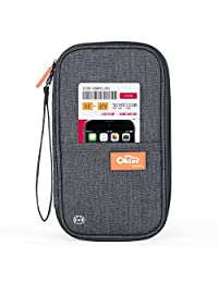 RFID Travel Passport Wallet, Family Passport Holder, Waterproof Document Organizer by FLYNOVA| Travel Accessories for Credit Cards etc.