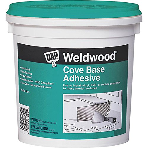 Dap 25053 Weldwood Cove Base Adhesive, 1-Quart, White