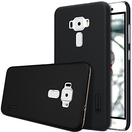 For Asus Zenfone 3 ZE520KL Case,Nillkin [With Screen Protector] Frosted Shield Hard Case Back Cover for Asus Zenfone 3 ZE520KL 5.2 (Black)