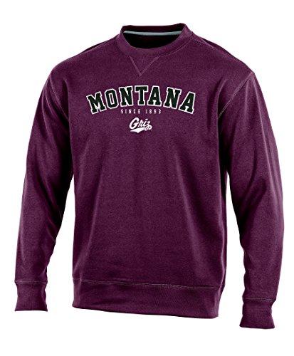 NCAA Montana Grizzlies Adult Men Crew Neck Fleece, X-Large, Maroon