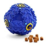 BELIFE Interactive Pet Toy Ball for IQ Treat and Food Dispenser for Small/Medium/Large Dog & Cat,Pet Puzzle Slow Feeder Made by Plastic-Rolling with sound(Blue)