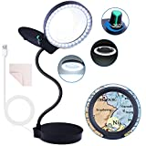 Magnifying Glass with 36 LED Lights 10X 20X