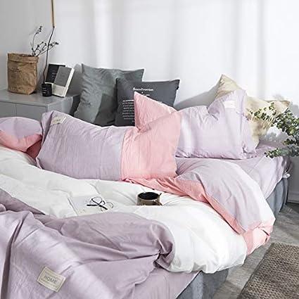 ¡¡¡NUEVO!!! Juego de cama Colcha de cama de patchwork reversible completa Juego de sábanas de cama doble,Sábanas dobles de algodón de color nórdico con ...