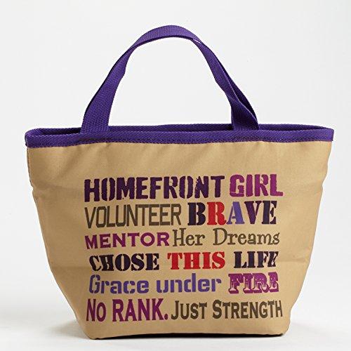 Enesco Homefront Girl - Lunchbag Word Cloud