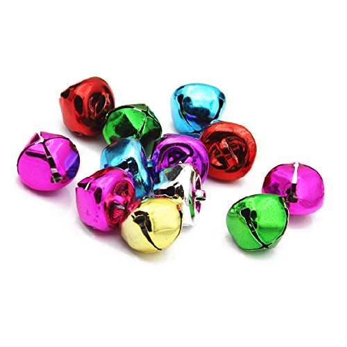 TOOGOO(R) 15mm - Jingle bells multi coloured approx 80 bells