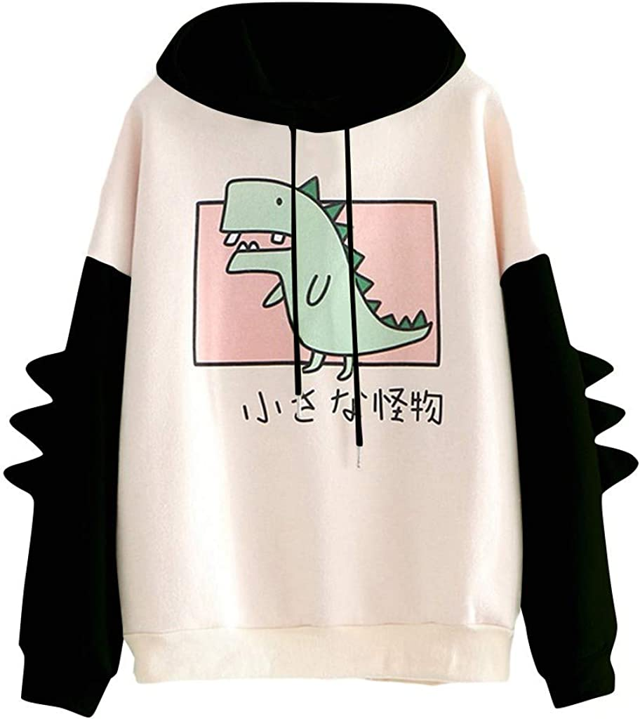 Fudule Womens Pullover Color Block Sweatshirts Patchwork Cute Sweater Blouse Tops