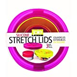 Joie Silicone Stretch Lids, Reusable Food Storage Lids, Set of 3