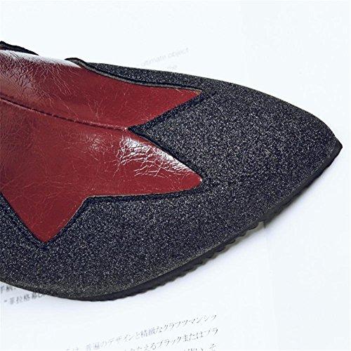 eur36uk354 5 Alto Puntiagudo Estilete uk Sexy Grande Talones Lado Tobillo Red Otoño Tamaño Cremallera 5 Invierno Martín Zapatos 42 Nvxie 38 Eur 35 Mujers Botas q4qSB