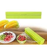 Joykit Kitchen Tool Foil Cling Film Wrap Dispenser Plastic Sharp Cutter Storage Holder (Green) (L)