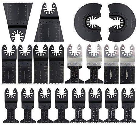 20PCS acier bi-métal Oscillant Multi Outils Scie Lames Pour Bois Métal Coupe