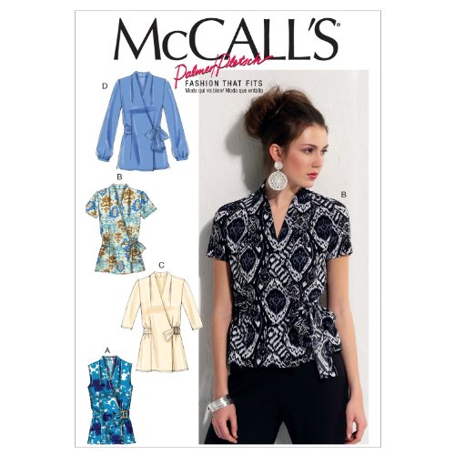 McCall's Fashion that Fits Pattern 6564 Misses Semi-Fitted, Wrap Tops Size 14-16-18-20-22 ()