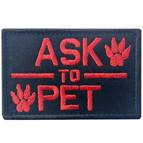 Service Dog Ask to Pet Tactical Embroidered