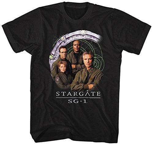 Stargate- Cast And Gate T-Shirt - Black