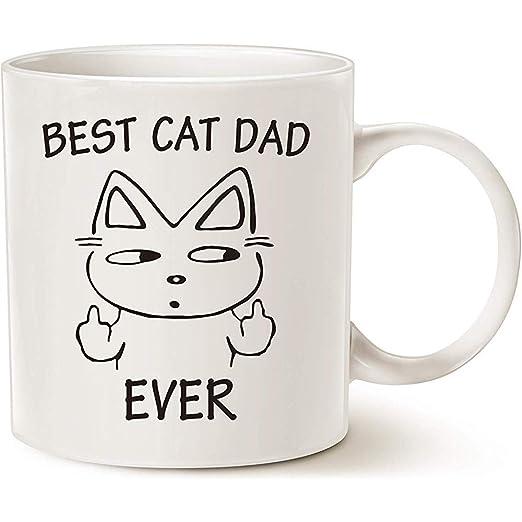Regalos divertidos de Navidad Taza de papá de gato para amantes de ...