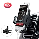 Image of Universal Cell Phone Vent Holder Car Mount Holder Compatible with iPhone 8/7/7P/6s/6P/5S Samsung Galaxy S6 S5 S4 LG Nexus Sony Nokia and More Black