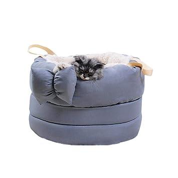 FOONEE Cama Creativa para Gato, Color Rosa/Gris, para Gatos y Gatos de Animales y Perros Que Duermen Jugando con una Cama de 40 x 28 cm: Amazon.es: Hogar