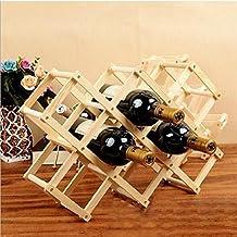 Solid wood wine rack Decoration creative display stand red wine rack bottle rack simple modern wine rack , log , 10 bottles