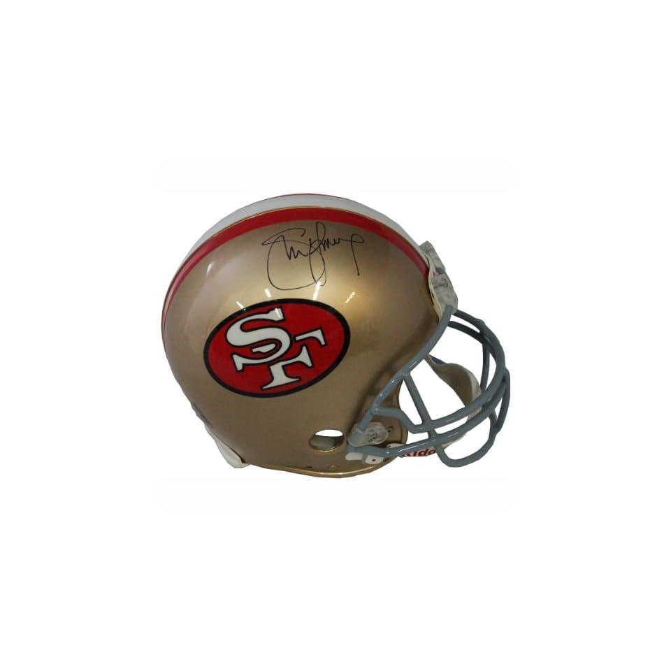 NFL San Francisco 49ers Steve Young Autographed Helmet  Sports Fan Football Helmets  Sports & Outdoors