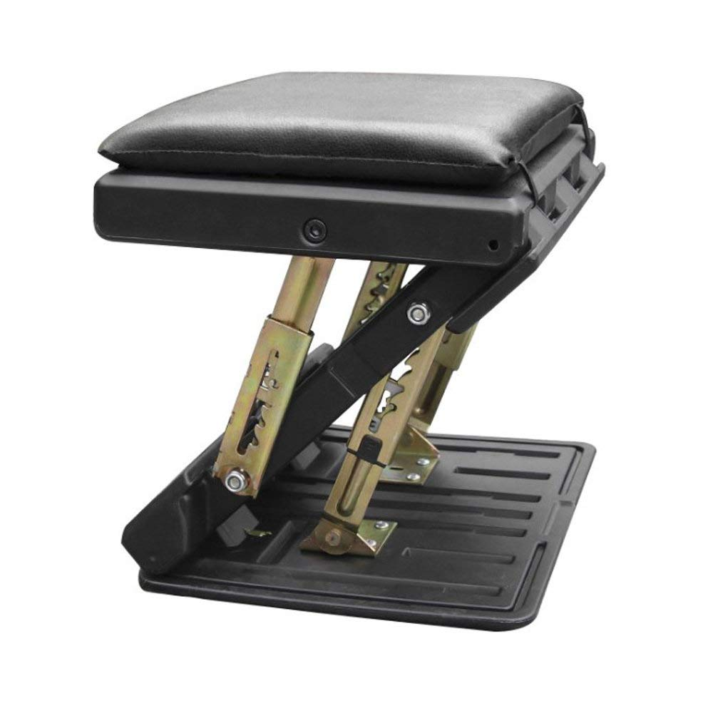 CONRAL Adjustable Footrest with Massaging Beads for Travel and Office, 4-Level Adjustable Height and Angle Office Foot Rest Stool for Under Desk Support, with Cushion,Black by CONRAL