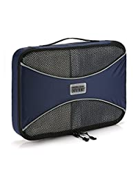 Pro Packing Cubes | MEDIUM Travel Packing Cube |Ultra Lightweight Luggage Organizer for Travel | Featuring Durable Rip-Stop Nylon and Reliable YKK Zippers (Navy Blue)