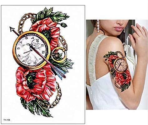 yyyDL Etiqueta engomada del tatuaje temporal Brazo grande Tatuaje ...