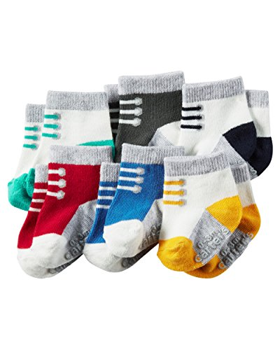 Carter's Baby-Boys Socks, Laces, 0-3 Months (Pack of 6)