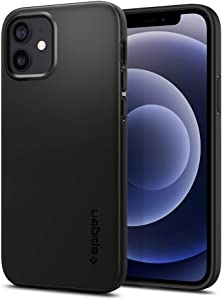 Spigen Thin Fit Designed for Apple iPhone 12 Case (2020) / Designed for iPhone 12 Pro Case (2020) - Black