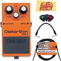 Boss DS-1 Distortion Bundle with Instrument Cable, Patch...