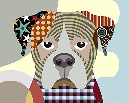 "Boxer Dog Pop Art Pet Portrait Animal Print Wall Decor-8"" x 10"", 11"" x 14""(UNFRAMED)"