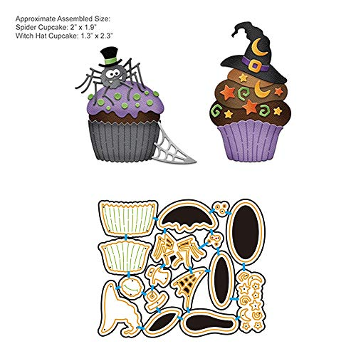VT BigHome Halloween Cupcake Metal Craft Die Cut Cutting die Scrapbooking Carbon Die Cut Embossing Stencils Photo Card Decor
