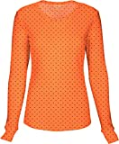 HeartSoul 20801 Junior's LS Round Neck Tee Never-Ending Love Orange Small