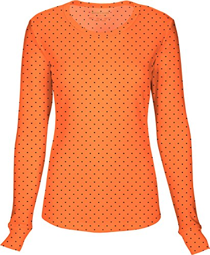 HeartSoul 20801 Junior's LS Round Neck Tee Never-Ending Love Orange Small by HeartSoul (Image #1)