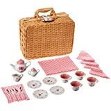 Schylling Butterfly Tea Set in A Basket