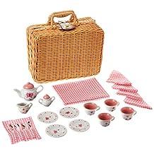 Schylling Butterfly Tea Set in A Basket