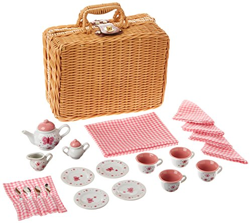 Butterfly Tea Set Basket - Set Tea Classic Rose