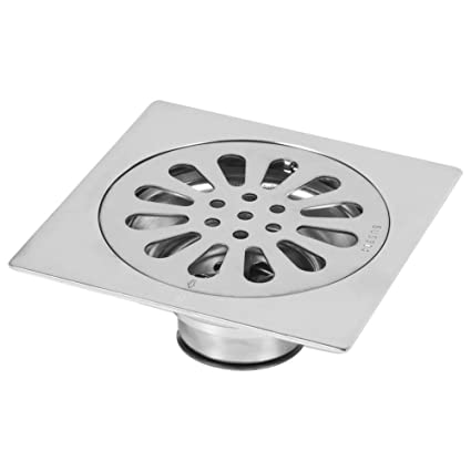thick stainless steel square anti odor bathroom floor drain cover rh amazon co uk