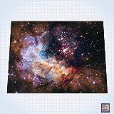 GG Promo Galaxy, Celestial Fireworks - #GM102 - 60'' x 80'' (4' x 6' Plus) Fleece Table Top Miniature War Gaming Battle Mat