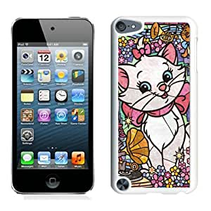 Durable Case Lovely Marie Cat Stained Glass White Case for iPod Touch 5