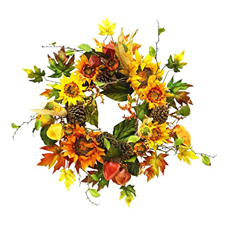 Multicolor Sunflower Wreath