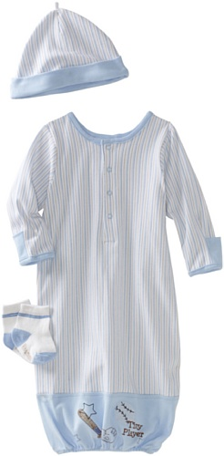 Vitamins Baby-boys Newborn Tiny Player 3 Piece Gown Set